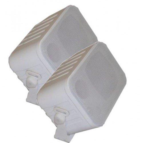 XTC LSM1-WH 3-Wege Stereo Kompakt Lautsprecher Weiss Paar