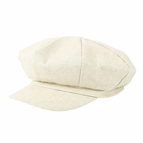 b551d704e8e85 WITHMOONS Sombreros Gorras Boinas Bombines Linen Newsboy Hat Visor Peaked  Summer Solid Beret Cap LDG1049 (