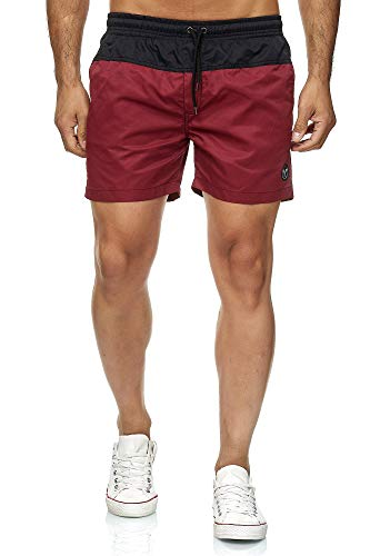Kayhan Men Swimwear Doubleface, Black/Wine 4XL
