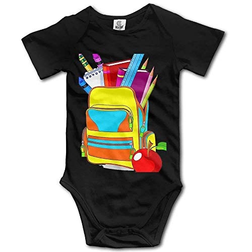 (HFJFJSZ Baby Toddler Bodysuit School Backpack Infant Onesie Jumpsuit)