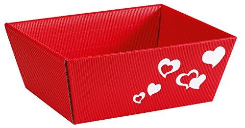 Weinkarton24 5pezzi-cesto regalo cuore rosso piccolo