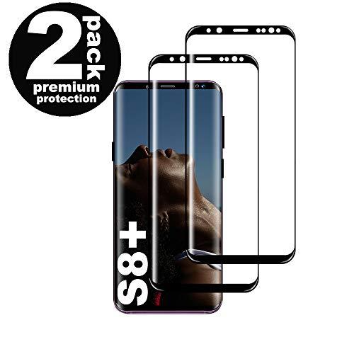 KUTUKU Galaxy S8 Plus Film Protection Ecran Verre Trempé, [2 Pièces] [Ultra Claire] [Dureté 9H] [sans Bulles] [Anti Rayures] Film Protecteur en Verre trempé de Haute qualité Samsung Galaxy S8 Plus