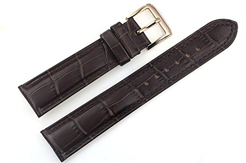 22mm-dark-brown-luxury-italian-leather-replacement-watch-straps-bands-grosgrain-padded-gold-buckle-f