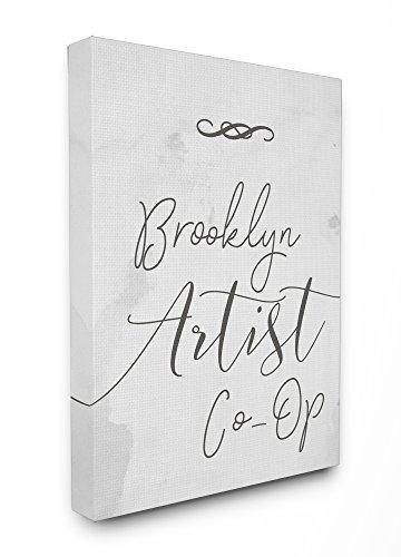 """Stupell Industries Brooklyn Artist Co-Op Typographie-Schild gespannt, Mehrfarbig, 40,64 x 3,81 x 50,8 cm, Canvas, Mehrfarbig, 30"""" x 40"""""""