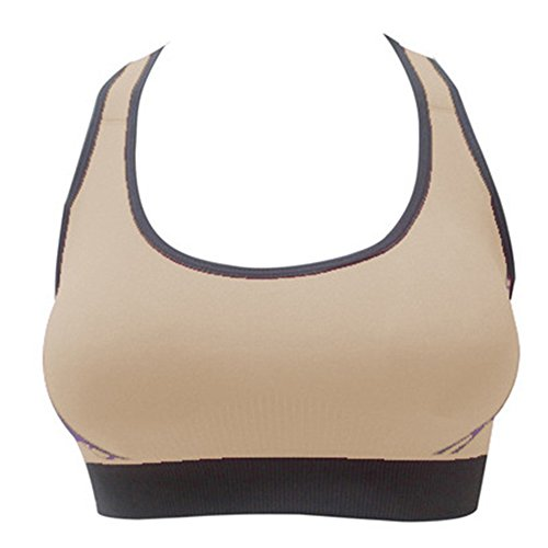 Cocohot Donna Stretch Yoga Sexy Sport Top Seamless Fitness Reggiseno Pelle