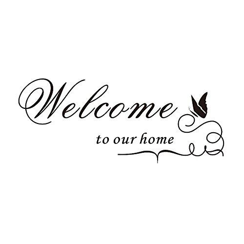 """Demiawaking, adesivo vinilico decorativo con scritta """"welcome to our home"""" (lingua italiana non garantita)"""