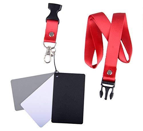 3er Set Graukarten grau/weiß/schwarz im Scheckkartenformat (Größe S), inkl. Trageband