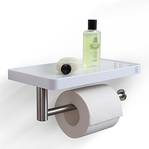 Exceptional CRW Toilet Paper Roll Holder With Shelf Chrome 2 In 1 Bathroom Shlef To Put  Iphone Lotion Shampoo, Wall Mounted ASC02