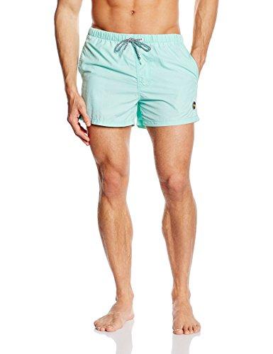 Miami Beach Swimwear Herren Badeshorts in Unifarben, Blau (Aruba Blue 609), Large (Aruba Herren Kurze)