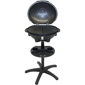 el fuego elektrogrill rosenheim grau 54x91x40 cm garten. Black Bedroom Furniture Sets. Home Design Ideas
