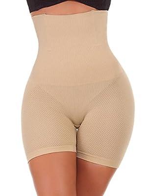 NINGMI Women High-Waisted Tummy Control Bodyshaper Butt Lifter Boyshorts Control Knickers Slimming Briefs