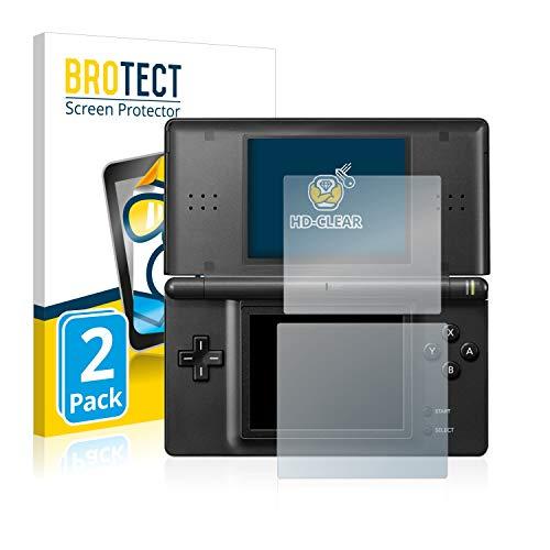 BROTECT Schutzfolie kompatibel mit Nintendo DS LITE [2er Pack] - klarer Displayschutz