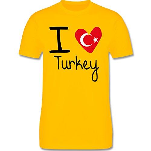 I love - I love Turkey - Herren Premium T-Shirt Gelb