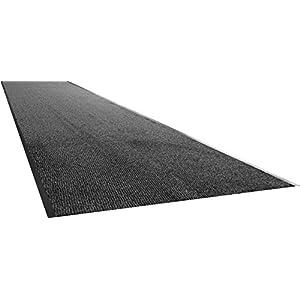 Teppichwahl Fußmatte innen hauseingang Nassau Anthrazit, Beige, Blau, Braun, Rot - 90 x 400 cm - Anthrazit