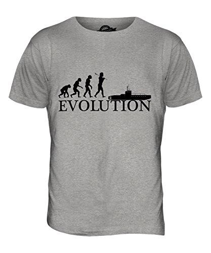 CandyMix U Boot Evolution Des Menschen Herren T Shirt Grau Meliert
