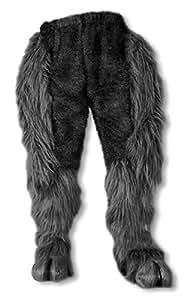 Pantalon de fourrure monstre noir