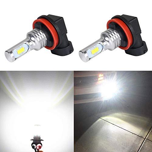 URAQT Auto H11 LED Veicolo Vettura Faro Bulbi di Ricambio per Luci Alogene o Lampade Hid Lampada Luminosa 6500LM 6000K Bianco 12-24V IP67 Vita Durata 30000 Ore - 2 Anni Di Garanz