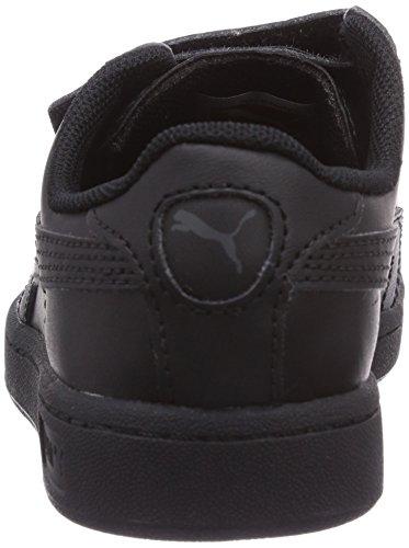 Puma Puma Smash L V Kids, Unisex-Kinder Sneakers Schwarz (black-black-dark shadow 01)