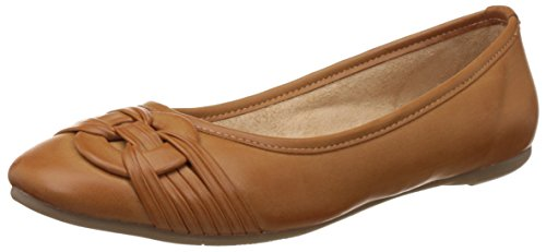 BATA Women's Rebecca Tan and Light Brown Ballet Flats - 7 UK/India (40 EU) (5513803)