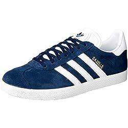 adidas Gazelle, Sneakers basses mixte adulte, Bleu (Collegiate Navy/White/Gold Met), EU44