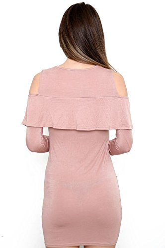 Maillot Épaules Froissantes Robe à volants Robe Bodycon EUR Taille 36-42 Rose