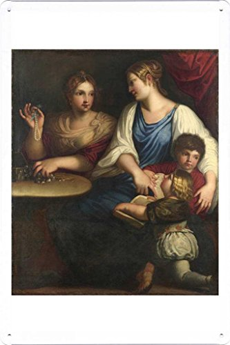 metal-poster-wall-decor-tin-sign-of-after-padovanino-cornelia-and-her-sons-2030cm-by-masterpiece-col