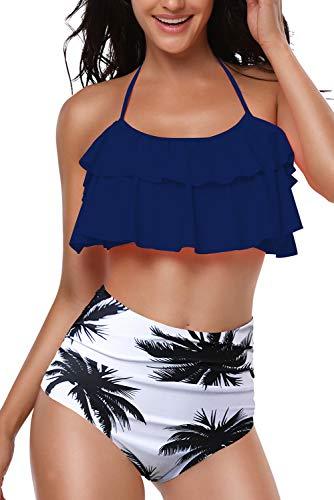 Bequemer Laden Damen Bikini Set Niedlich Bustier Zweiteilig Sommer Sportliches Bademode Strand Bikini Badeanzug Blau M