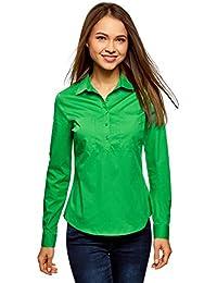 Langes Einfarbiges Hemd Dames Green Pieces GGBd0pDqJe