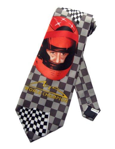 Ivre Hausse Herren Michael Schumacher World Champion Krawatte-beige-one size Neck Tie -