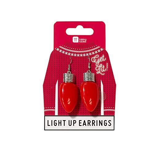 Talking Tables ENT-LEDEARRINGS Weihnachten Party Dress Up | 1 Paar Novelty Ohrringe Weihnachtlich für Mädchen und Frauen | Weihnachtskugeln, Rot, Multifarbe