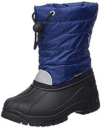 Playshoes gefütterte Kinder Winterstiefel, warme Schneestiefel mit Innenfutter , Blau (11 marine) , 26/27