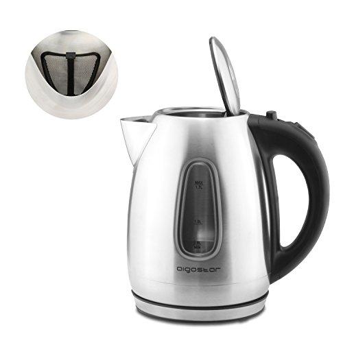 Hochwertiger Wasserkocher Teekocher aus Edelstahl 1,7L 2200W Kabellos Neu - 2
