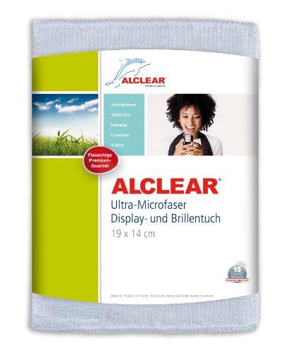 ALCLEAR 950003i Ultra-Microfaser Displaytuch für iPhone, iPad und iPod, 19x14 cm, weiß - Für Kratzer-entferner Iphone