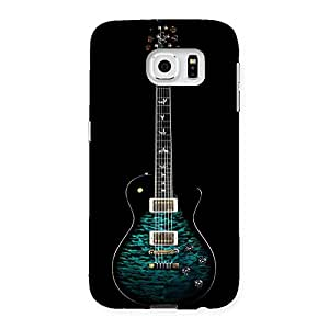 Special Greenish Print Guitar Back Case Cover for Samsung Galaxy S6