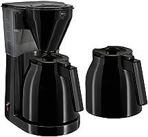 Melitta 1010-06 Easy Therm Kaffeefiltermaschine - Zweite Thermkanne- Tropfstopp - Schwenkfilter, Schwarz
