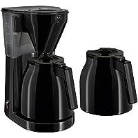Melitta, Filterkaffeemaschine mit zwei Thermkannen, Easy Therm, Tropfstopp, Schwarz, 1010-06