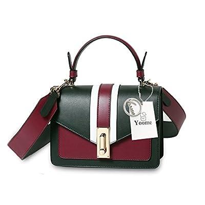 Yoome Femmes Couleur Blocage Top Poignée Embrayage Petit Sac à main en cuir fourre-tout bandoulière sac à bandoulière