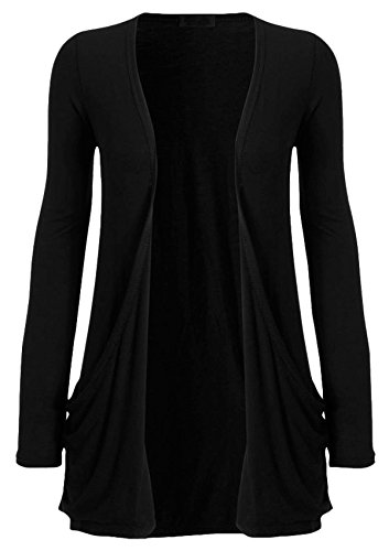 7-13 Years Reduced to Clear Girls Kids Boyfriend Long Sleeve Plain Jersey Cardigans Top Age