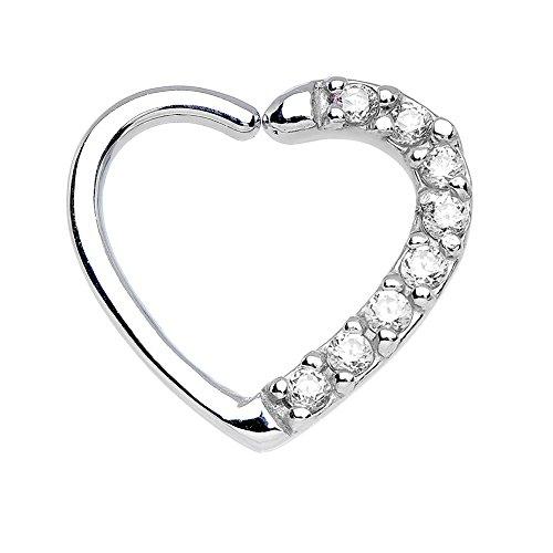 Bodya Bling Clear Cubic Zirkonia Ohrringe Ohr Daith Tragus Piercing Helix Verschluss Hoop Ringe Body Jewelry (Fake Nose Hoop Ringe 1 4)