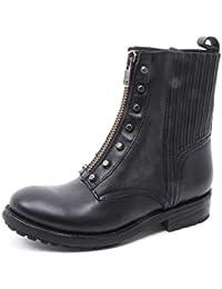 B3866 stivaletto donna ASH RACHEL scarpa biker nero borchie boot shoe woman