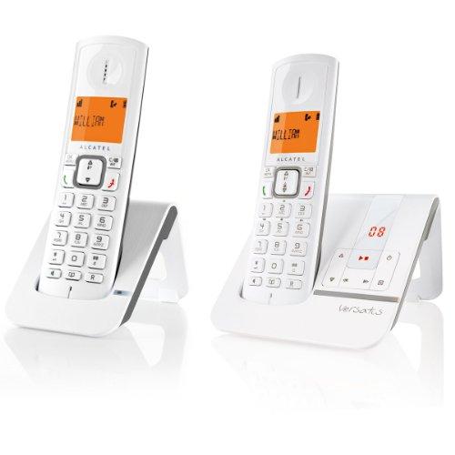 Alcatel Versatis F230 Voice Duo - 2 teléfonos fijos digitales inalámbricos, color gris [Importado de Francia]