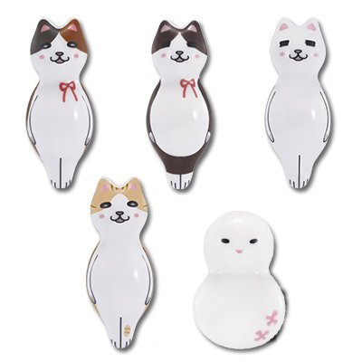 The most lottery March of Lion unwind Manpuku âTMª Meow and her friends and the F Award your chopstick rest collection all five Tsu spring Shitaku Japan Chopstick Rest