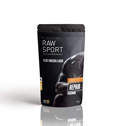 Raw Sport Elite Vegan Protein with 7g of Vegan BCAA'S per Serving- With Added Superfoods-Electrolytes-Probiotics…