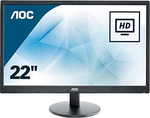 AOC E2270SWHN - Monitor de 21.5' Full HD (resolución 1920 x 1080 Pixels, tecnología WLED, Contraste 600:1, 5 ms, VESA, HDMI)