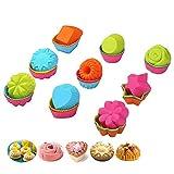36-pcs riutilizzabile cottura tazze di Keepingcoox–antiaderente resistente al calore e muffin Cup Liners–BPA free cupcake stampi in silicone