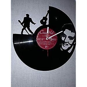 Wanduhr aus Vinyl Schallplattenuhr mit Elvis Presley Motiv upcycling design Uhr Wand-deko vintage-Uhr Wand-Dekoration…