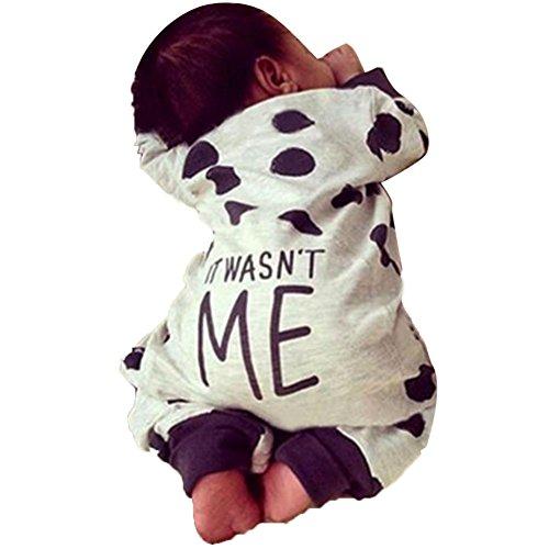 MIOIM Baby Body mit Druck Shirt Langarmshirt Lang Panty Overall Strampler Bodysuit Babysuit