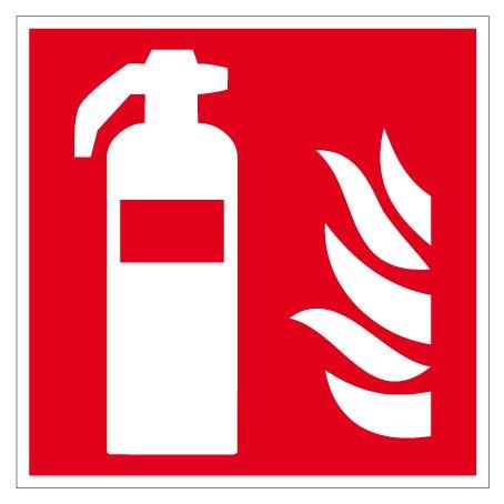 Brandschutzzeichen - Feuerlöscher - Aluminium - 20 x 20 cm