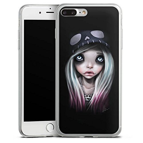 Apple iPhone 8 Plus Slim Case Silikon Hülle Schutzhülle Mädchen Kunst Art Silikon Slim Case transparent