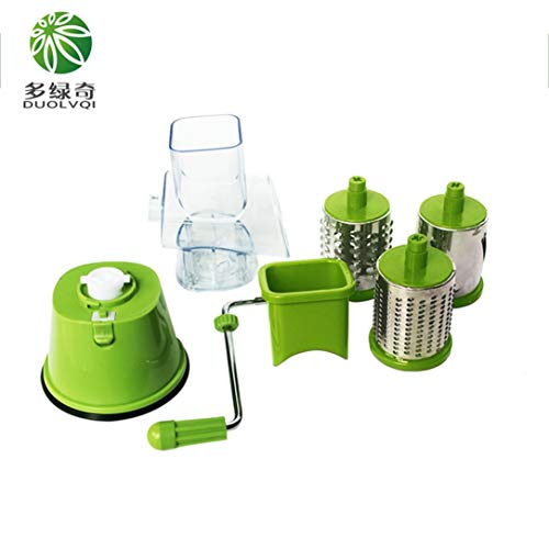 Multi-function Vegetables Fruit Cutter Drum Type Manual High Speed Mandoline Slicer Shredders Grinder Stainless Steel Blades